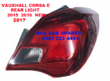 VAUXHALL CORSA  E   REAR LIGHT DRIVER SIDE  O/S   15 16 17  Reg ( 5 DOOR MODEL ONLY )  NEW  NEW
